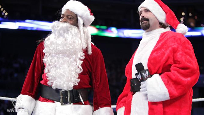 Mick Foley and Booker T Smackdown Christmas