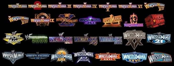 WrestleManiaLogos