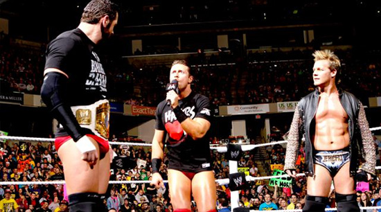 Miz, Jericho and Barrett at Raw